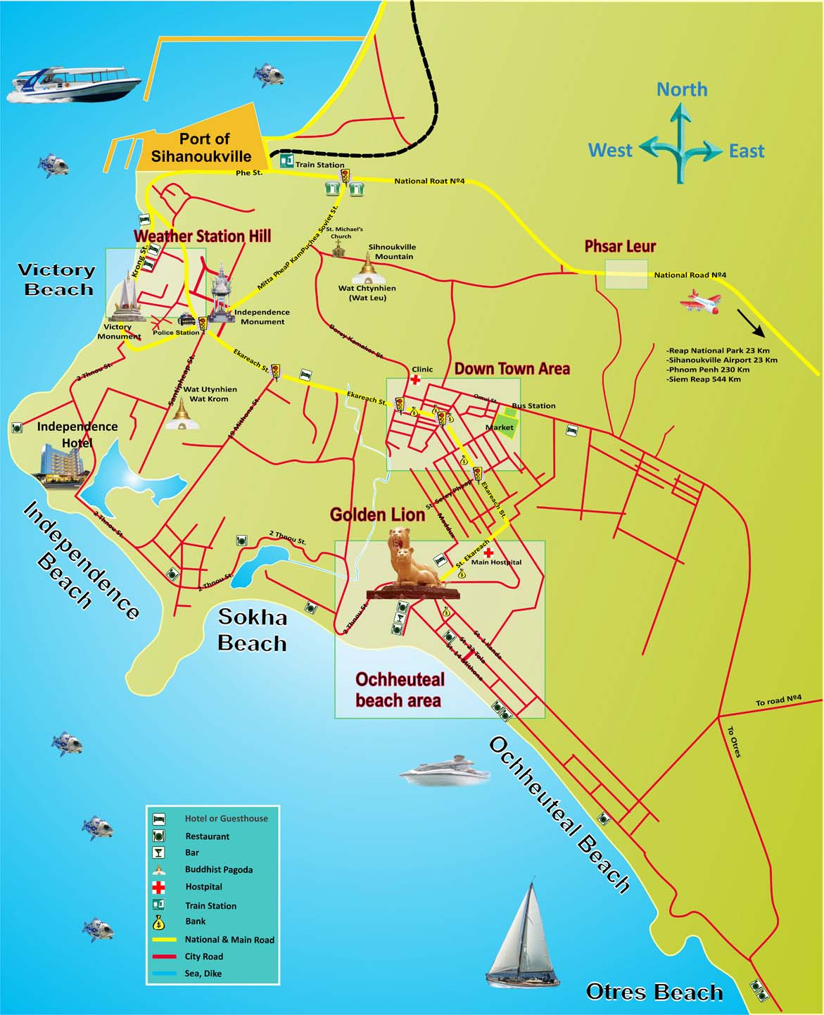 Sihanoukville Cambodia  city images : Sihanoukville Map. Maps of Sihanoukville. Cambodia Map